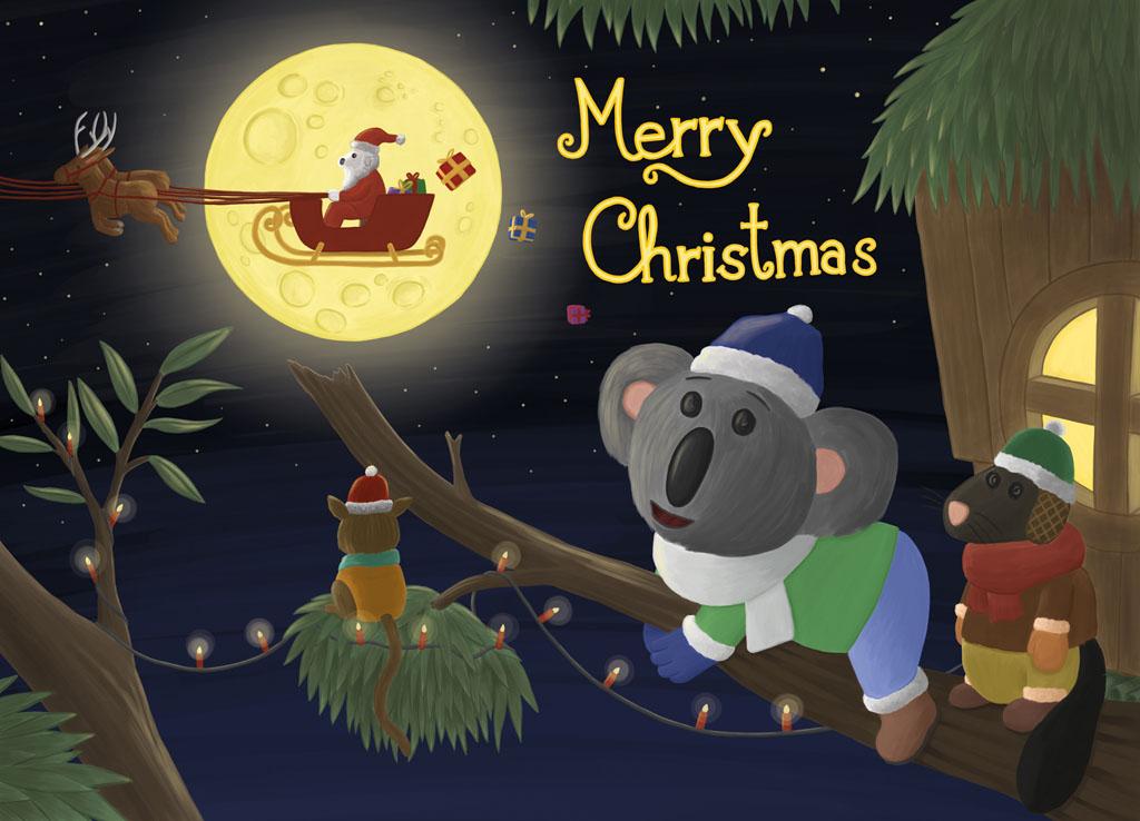 Plüsch Weihnachtskarte